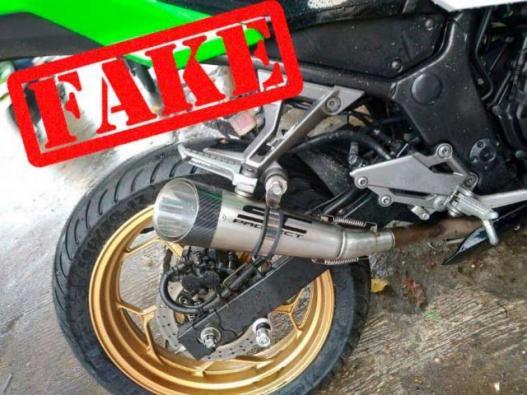 Fake exhaust S1 muffler counterfeited