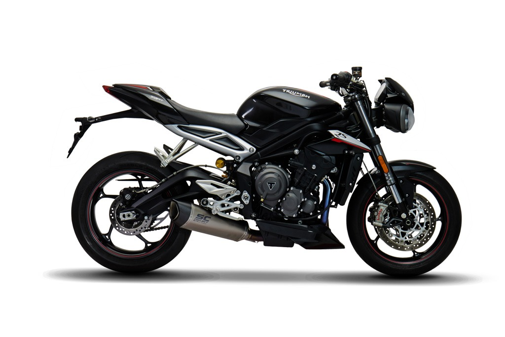 triumph street triple 765 full system exhaust 3 1. Black Bedroom Furniture Sets. Home Design Ideas