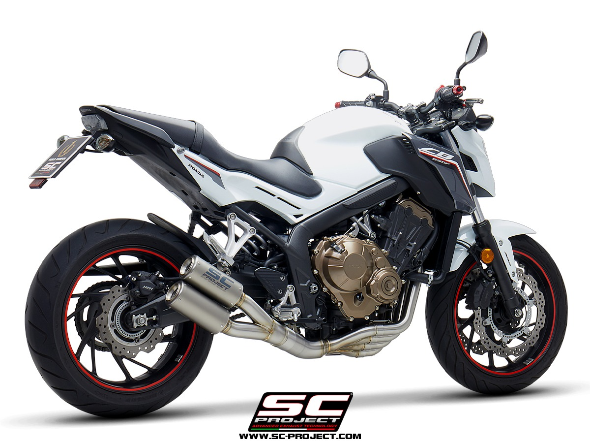 honda cb650f 4 1 full exhaust system with euro4. Black Bedroom Furniture Sets. Home Design Ideas