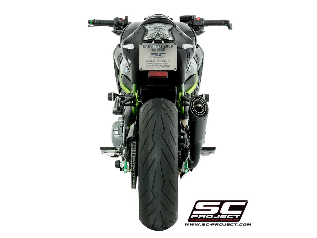 Kawasaki Z900 - Street legal matt black S1 muffler