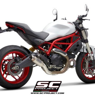 SC-Project Ducati Monster 797 - GP70-R Titanio - 3-4Posteriore