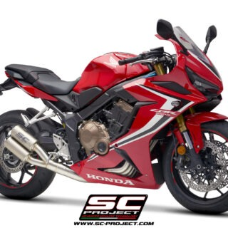 Honda CBR 650 R my2019 Twin CR-T Exhaust 3/4 front view