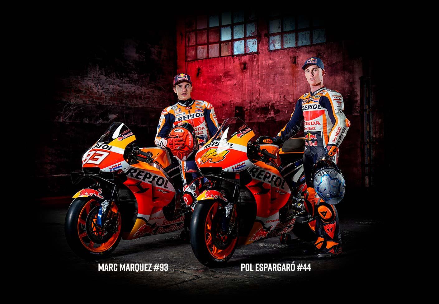 Repsol Honda HRC MotoGP Team 2020 livery SC-Project Marc Marquez Alex 93 73