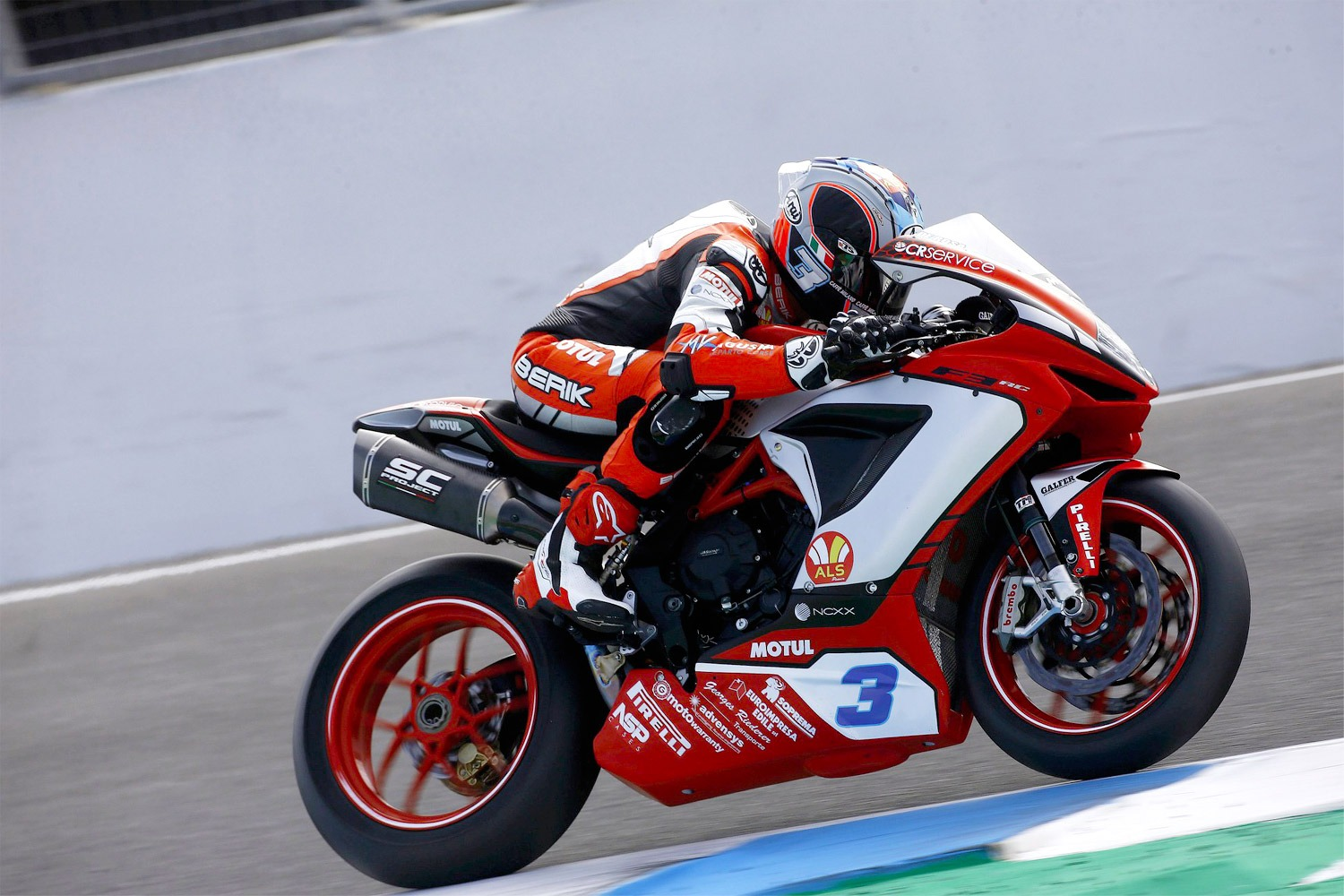 Phillip Island GP MV Agusta Reparto Corse 2020 F3 with SC1-R Sc-Project Exhaust de Rosa