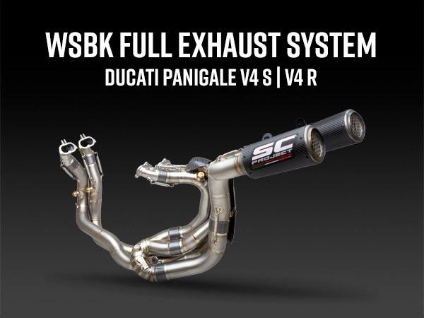 Banner mobile WSBK full exhaust system Ducati Panigale V4 S R