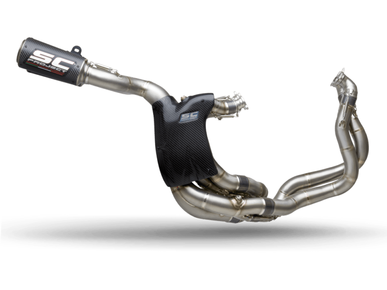 SC-Project WSBK Full Exhaust System CR-T M2 for Ducati Panigale V4 right side transparent PNG