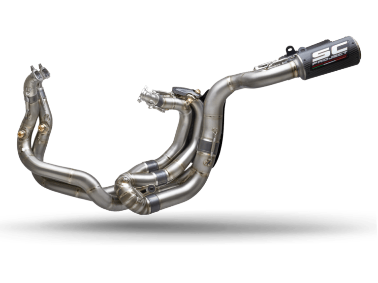 SC-Project WSBK Full Exhaust System CR-T M2 for Ducati Panigale V4 left side transparent PNG