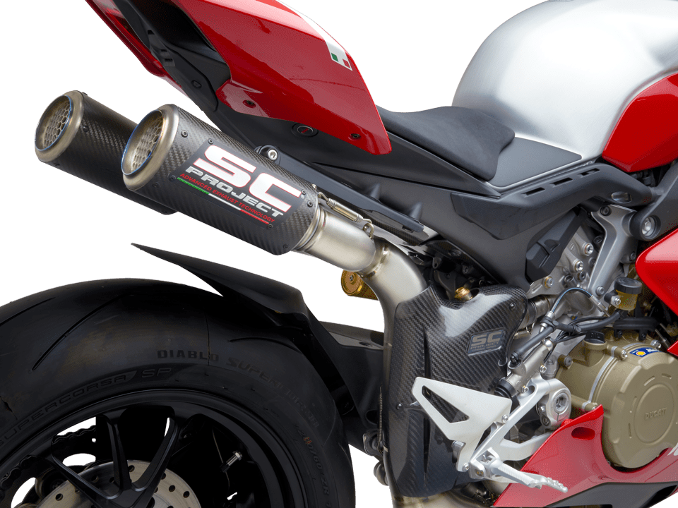 Ducati Panigale V4 R SC-Project full exhaust system WSBK CR-T M2 detail transparent PNG
