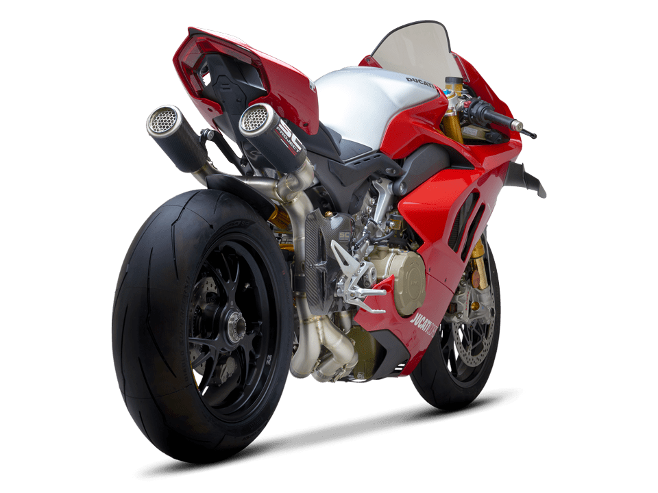 Ducati Panigale V4 R SC-Project full exhaust system WSBK rear right transparent PNG