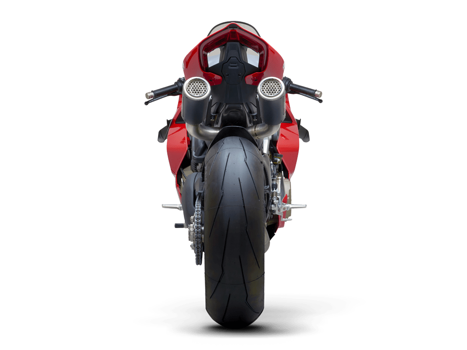 Ducati Panigale V4 R SC-Project full exhaust system WSBK back transparent PNG