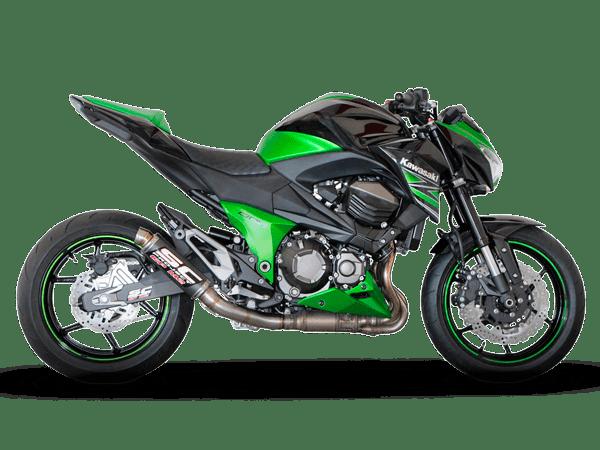 Kawasaki z800 gpm2 scarico exhaust echappemtn pot auspuff escape sc-project scproject