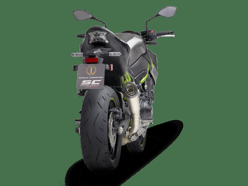 kawasaki z900 S1 silenciador escape de titanio sc-project trasero