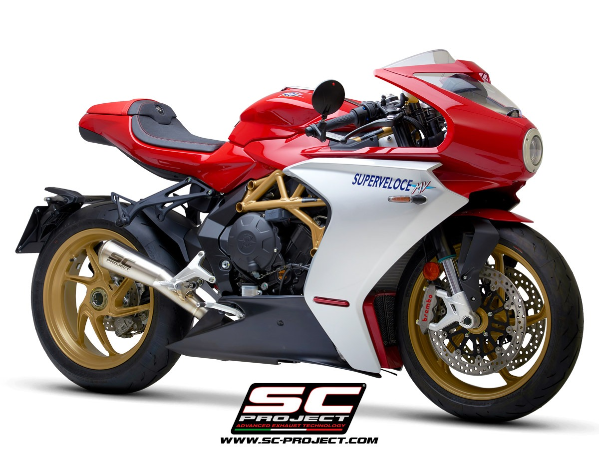 MV Agusta Superveloce 800 my2020 Conic 70s 3/4 Front exhaust muffler sc-project