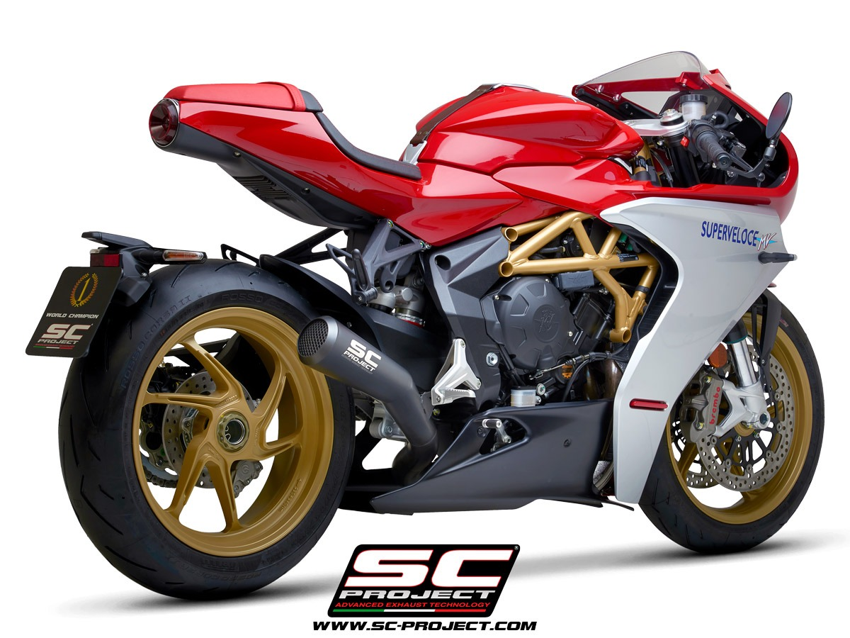 MV Agusta Superveloce 800 my2020 Conic 70s Matt Black 3/4 rear echappement pot silencieux sc-project