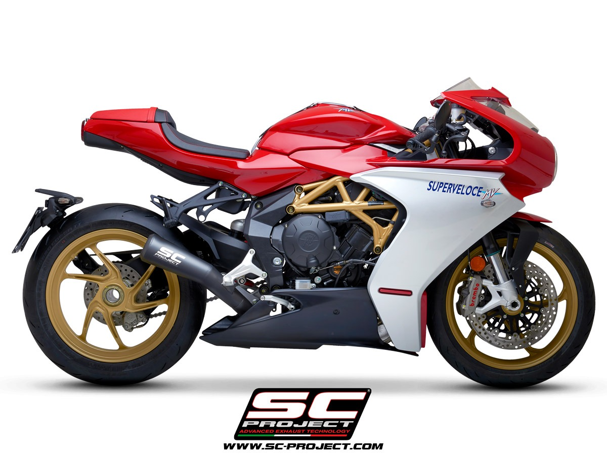 MV Agusta Superveloce 800 my2020 Conic 70s Matt Black right side echappement pot silencieux sc-project