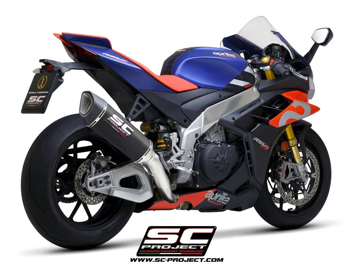 Aprilia RSV4 Factory 1100 SC1-R Carbon 350mm racing 3/4 back view