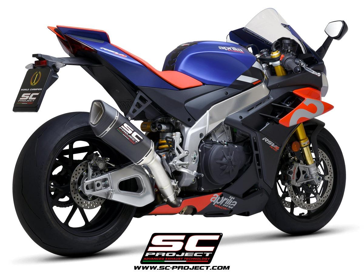 Aprilia RSV4 Factory 1100 SC1-R Carbon 250mm racing 3/4 back view